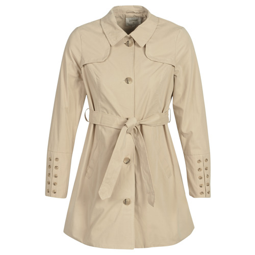 Clothing Women Trench coats Cream ANNABELL Beige