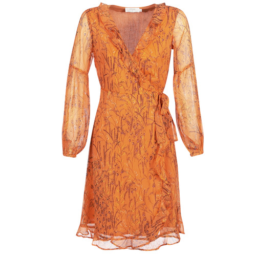 Clothing Women Long Dresses Cream ANA Orange