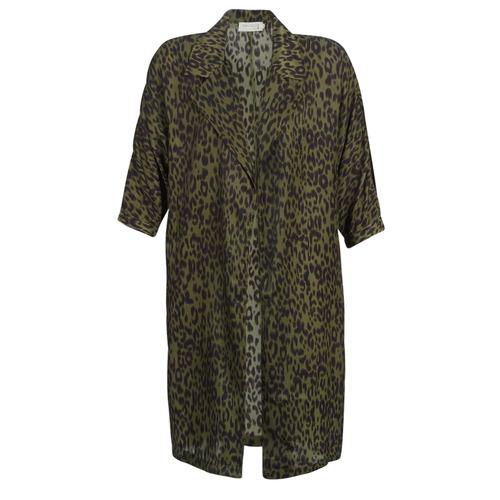Clothing Women Trench coats See U Soon GARAGA Kaki / Black