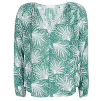 Clothing Women Tops / Blouses See U Soon GARAGAVE Green / White