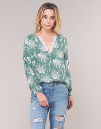 Clothing Women Tops / Blouses See U Soon GARAGAVE Green / White