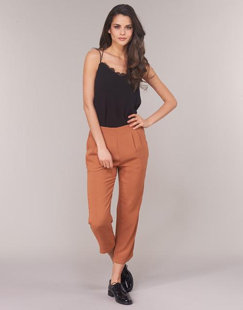 Clothing Women Wide leg / Harem trousers See U Soon GARAGACI Ocre tan