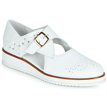 Shoes Women Derby Shoes Regard RIXALO V1 NAPPA BLANC White