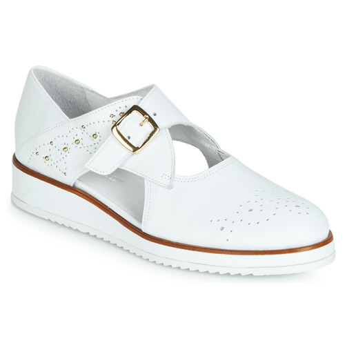Shoes Women Derby Shoes Regard RIXALO V1 NAPPA BLANC White