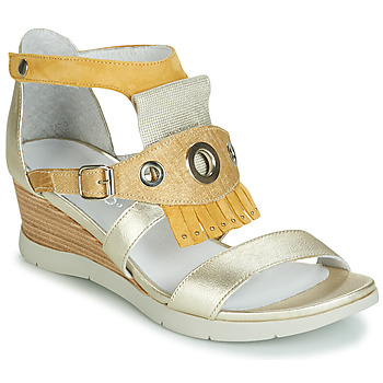 Shoes Women Sandals Regard RUBIKA V3 VEL JAUNE Yellow