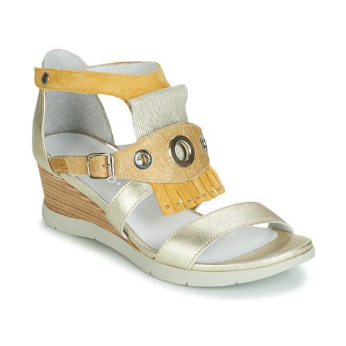 Shoes Women Sandals Regard RUBIKA V3 VEL JAUNE Yellow