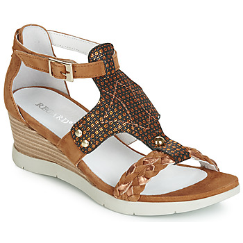 Shoes Women Sandals Regard RUBIZIL V1 VEL CAMEL Brown