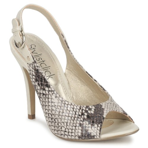 Shoes Women Sandals StylistClick RUTH Beige / Celadon