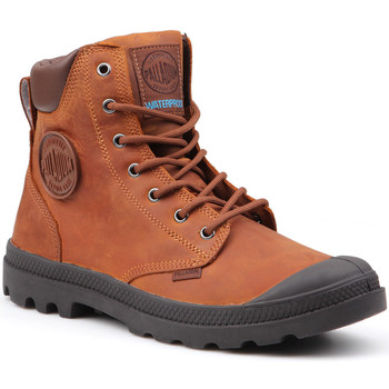 Shoes Men Mid boots Palladium Pampa Cuff WP Lux 73231-733-M brown