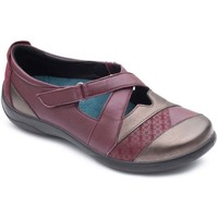 Shoes Women Derby Shoes & Brogues Padders Basset Womens Cross Over Strap Shoe pink