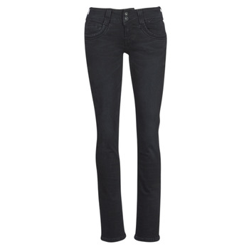 Clothing Women straight jeans Pepe jeans GEN Black / S98