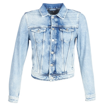 Clothing Women Denim jackets Pepe jeans CORE Blue / Clear