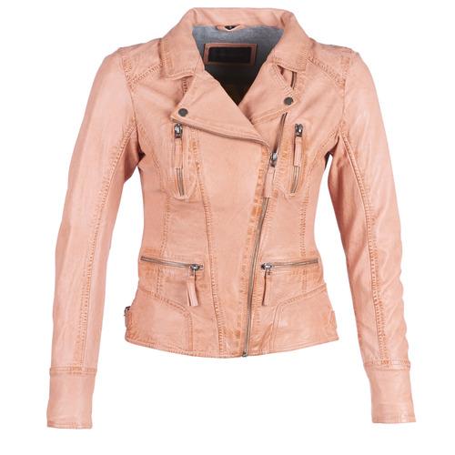 Clothing Women Leather jackets / Imitation leather Oakwood CAMERA Peach