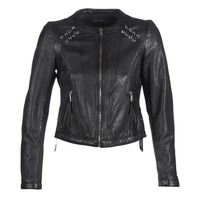 Clothing Women Leather jackets / Imitation leather Oakwood FLEX Black