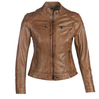 Clothing Women Leather jackets / Imitation leather Oakwood LINA Cognac