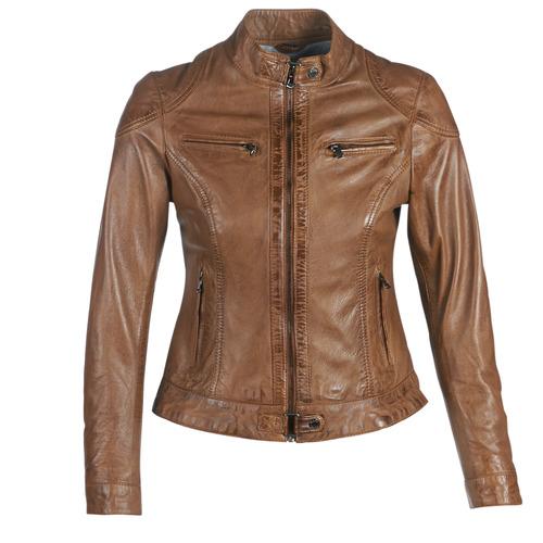 Clothing Women Leather jackets / Imitation leather Oakwood LINA Cognac