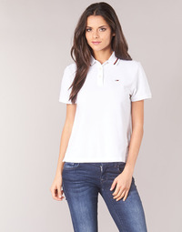 Clothing Women Short-sleeved polo shirts Tommy Jeans TJW TOMMY CLASSICS POLO White