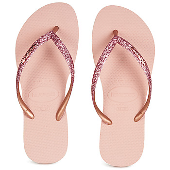 Shoes Women Flip flops Havaianas SLIM GLITTER Pink