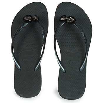 Shoes Women Flip flops Havaianas SLIM METAL PIN  black