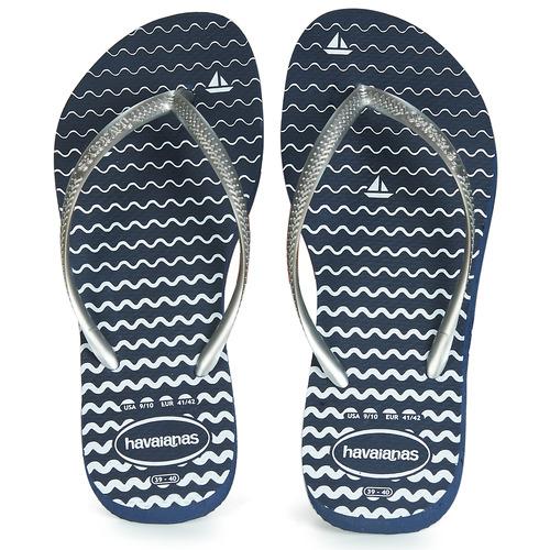 Shoes Women Flip flops Havaianas SLIM OCEANO Navy