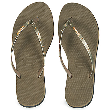 Shoes Women Flip flops Havaianas YOU MAX Kaki