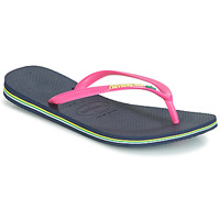 Shoes Women Flip flops Havaianas SLIM BRASIL LOGO Navy / Pink