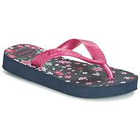 Shoes Girl Flip flops Havaianas KIDS FLORES Marine / Pink
