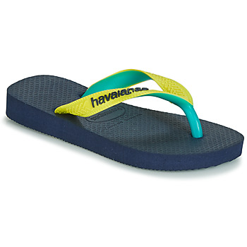 Shoes Children Flip flops Havaianas HAVAIANAS TOP MIX Yellow / Navy