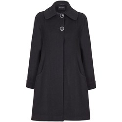 Clothing Women Coats De La Creme Swing Wool Cashmere Winter Coat Black