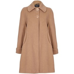 Clothing Women coats De La Creme Swing Wool Cashmere Winter Coat BEIGE