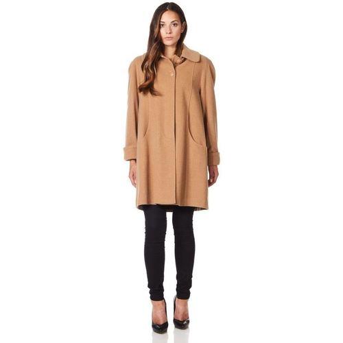 Clothing Women coats De La Creme Swing Wool Cashmere Winter Coat BEIGE