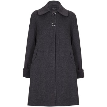Clothing Women coats De La Creme Swing Wool Cashmere Winter Coat Grey