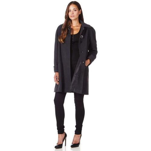 Clothing Women coats De La Creme Swing Wool Cashmere Winter Coat Grey