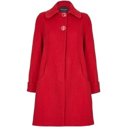 Clothing Women Coats De La Creme Swing Wool Cashmere Winter Coat Red