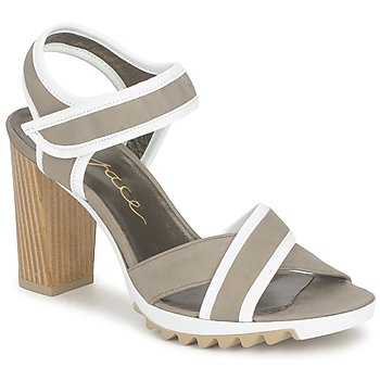 Shoes Women Sandals Espace GENIEVRE Grey / White