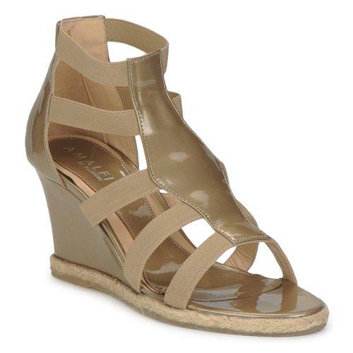 Shoes Women Sandals Amalfi by Rangoni LEMA Paint / TAUPE