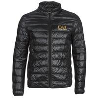Clothing Men Duffel coats Emporio Armani EA7 TRAIN CORE ID DOWN LT Black / Gold