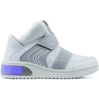 Shoes Boy Hi top trainers Geox Booties Lights  JR XLED BOY WHITE