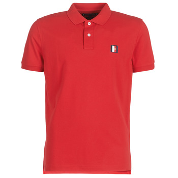 Clothing Men short-sleeved polo shirts Tommy Hilfiger ICON MINI BADGE REGULAR POLO Red