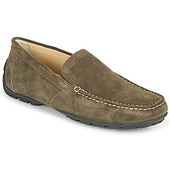 Shoes Men Loafers Geox MONET Brown / Dark