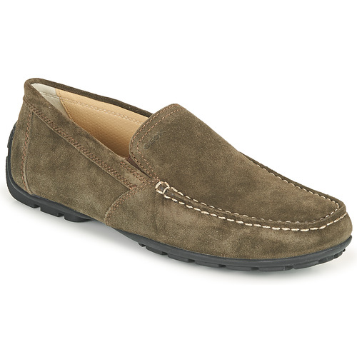 Shoes Men Loafers Geox MONET Coffee