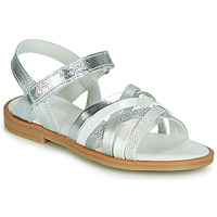 Shoes Girl Sandals Citrouille et Compagnie JIRAFOU Silver