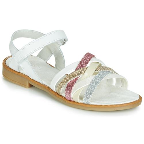 Shoes Girl Sandals Citrouille et Compagnie JARILOU White