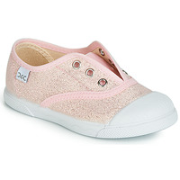 Shoes Girl Low top trainers Citrouille et Compagnie JANOLIRE Pink / Metallic