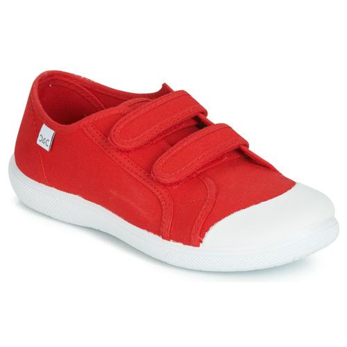 Shoes Children Low top trainers Citrouille et Compagnie JODIPADE Red