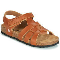 Shoes Boy Sandals Citrouille et Compagnie JANISOLERE Brown
