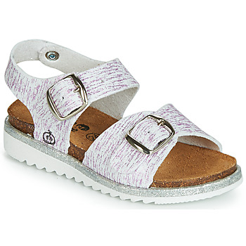Shoes Girl Sandals Citrouille et Compagnie JANETTA White / Purple