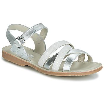 Shoes Girl Sandals Citrouille et Compagnie JAGUINOIX Grey / Silver