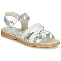 Shoes Girl Sandals Citrouille et Compagnie JAGUINOIX Grey / Silver