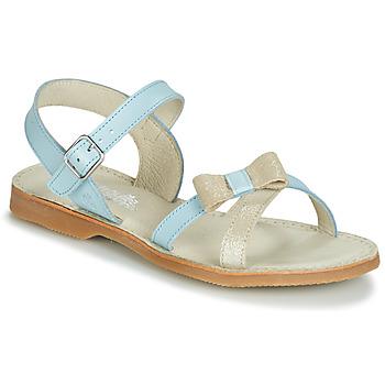 Shoes Girl Sandals Citrouille et Compagnie JISCOTTE Blue / Clear